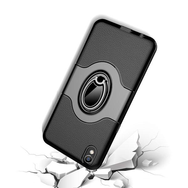 Supporto antiurto per auto supporto posteriore PC + TPU Custodia antiurto antiscivolo in metallo per Iphone X Xs Samsung S10plus Huawei Mate20 P30 Vivo
