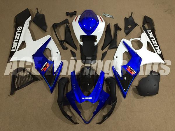 New ABS motorcycle bike Fairings Kits Fit For Suzuki GSXR1000 1000 K5 GSX-R1000 2005 2006 05 06 bodywork set custom Fairing blue white