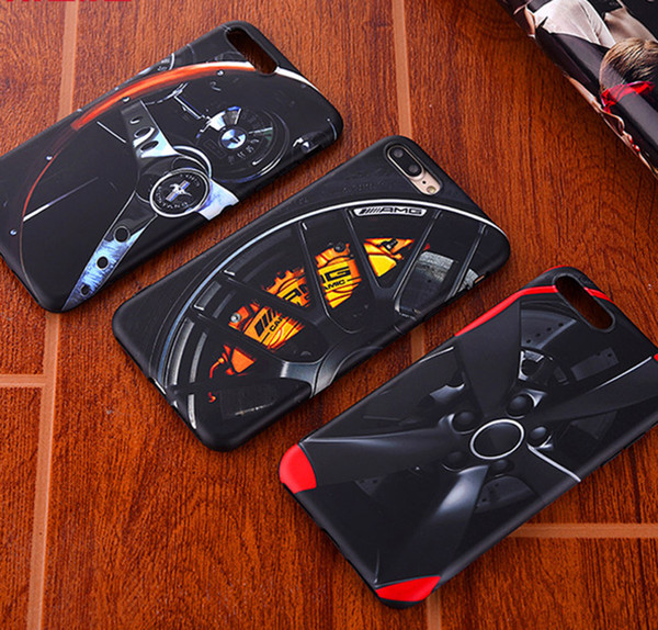 New AMG Tire Soft silicon cover case for iPhone 7 Plus 7Plus 8 8Plus 6 6S plus X XR XS MAX 10 racing steering wheel phone cases