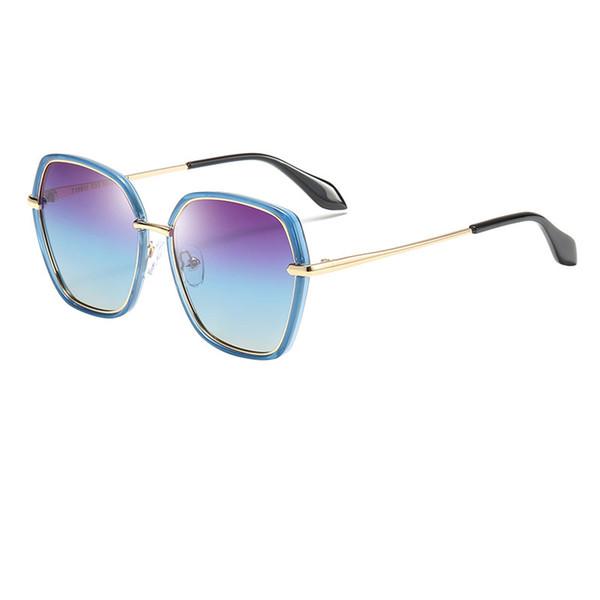 2019 neue Marke Polygon sechseckigen Goldrahmen Sonnenbrille niedlichen Kinder HD Sonnenbrille Jungen und Mädchen HD Sonnenbrille am besten für Kindergeschenke