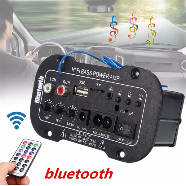 best selling Freeshipping 30W Amplifier Board Audio Bluetooth Amplificador USB dac FM radio TF Player Subwoofer DIY Amplifiers For Motorcycle Car Home