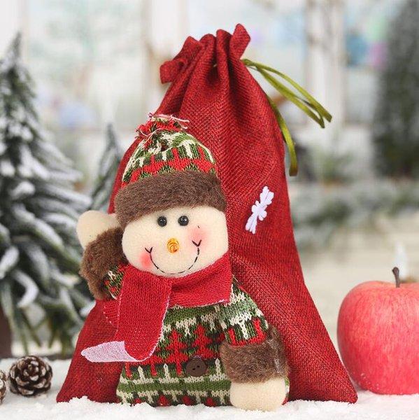 # 2 Weihnachts Kordelzug Gift Bag