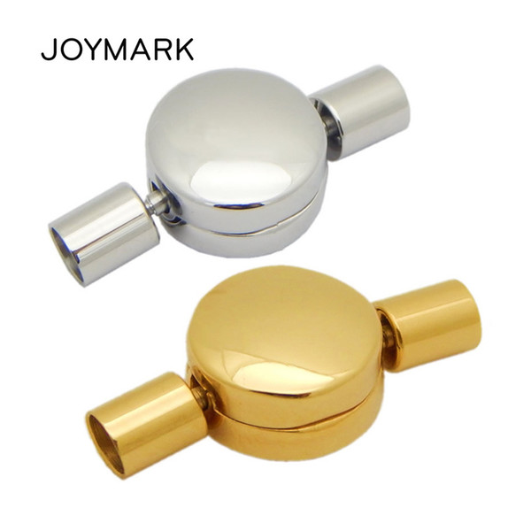 JOYMARK 3mm 4mm Hole Stainless Steel Clasp Bayonet Lock Clasps For Leather Cord Bracelet Jewelry Making 10pcs/lot BXGC-202