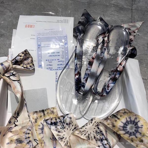 kadın sandalet Yeni tasarımcı ipek eşarp Sandal Lüks Slayt Tasarımcı Ayakkabı Moda Çıkarılabilir eşarp değiştirilebilir tasarımcı Terlik Flip Flop