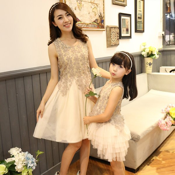 1d5c9052f1792 2019 Family Look Dress Matching Mother Daughter Dresses Clothes Mom And  Daughter Dress Princess Wedding Dress Mommy And Me Y190523 Matching T  Shirts ...