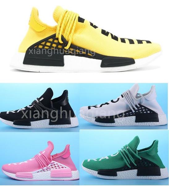 top popular 2019 new PW HU NMD Nerd running shoes human race Heart Mind Billionaire Boys Club Pharrell Williams mens Women Designer Sport Sneakers 2019