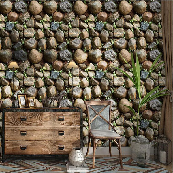 Antique Stone Self adhesive Wallpaper Waterproof Stone Wallpapers Brick Wall Paper Decorative Wall Stickers for Kitchen