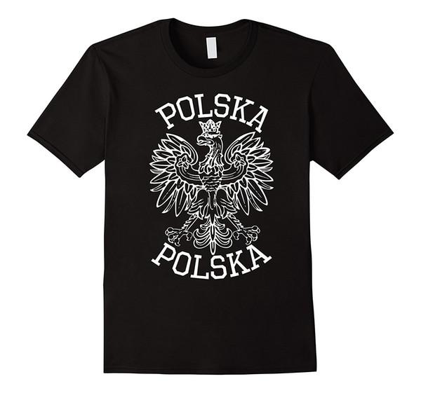 T-shirt aquila polacca - Polska Poland Maglietta da uomo Maglietta nera da uomo in cotone a maniche corte T-shirt stampata