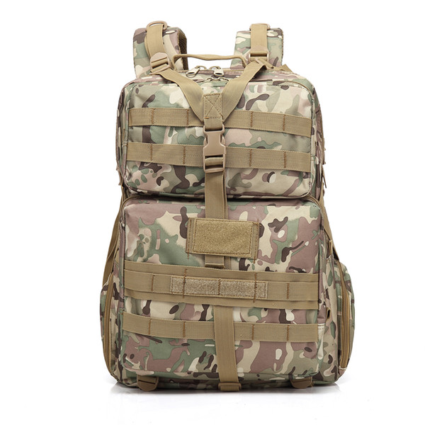 BL068 3P 45L Outdoor Marching Knapsack Tactical Backpack CP Camouflage