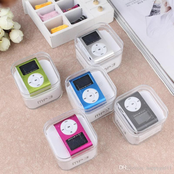 Factory price Promotion Metal Clip Style Mini MP3 Plugging Card Player Mini Metal Clip MP3 Player(Crystal Box Packed) e319