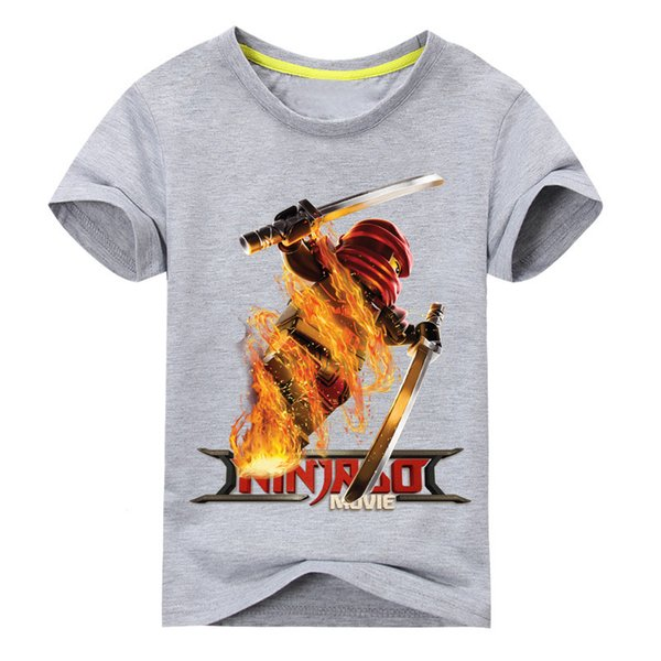 Kids Summer Short Sleeve Tee Tops Boys Casual Cartoon Ninjago T-shirt Clothes Girls Clothing For Children T Shirt Costume Dx074 J190427