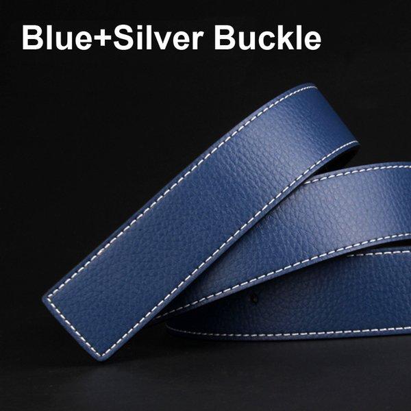 الأزرق + الفضة مشبك