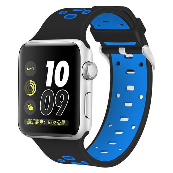 Cinturino da polso per cinturino in silicone sportivo sostitutivo per Apple Watch (serie 1/2/3 4)
