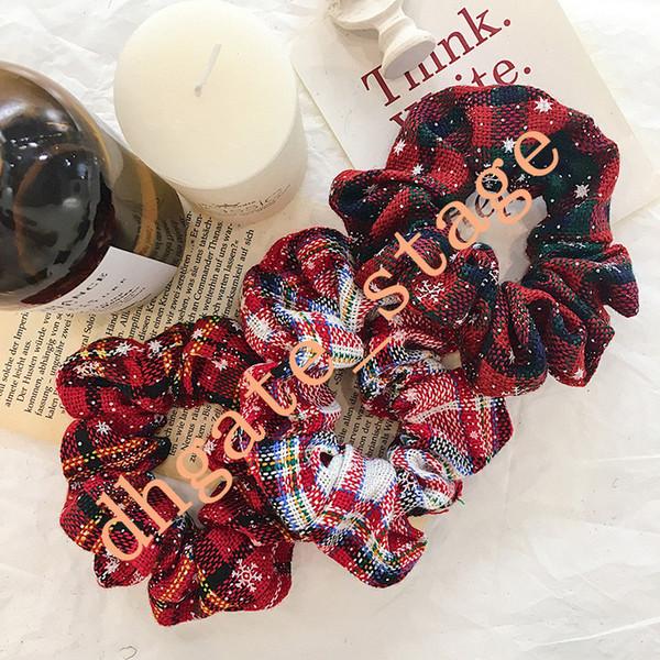Corda dei capelli delle ragazze di Natale Headwear Natale neve anello elastico legami dei capelli Accessori Ponytail Hairbands Rubber Band Scrunchies A11192