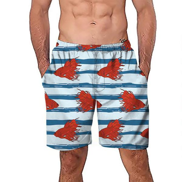 Мужчины плавки мужской печати боксер шорты для плавания 2019 новый стиль купальник для серфинга эластичный купальный костюм длинные купальники размер M-XXXL
