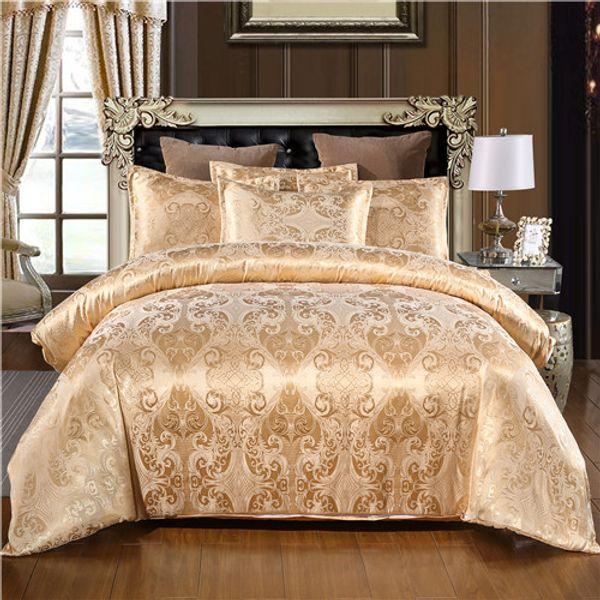top popular Jacquard Bedding set Single Queen King Size Duvet Cover Set Bed Linen Quilt Cover Set 2021
