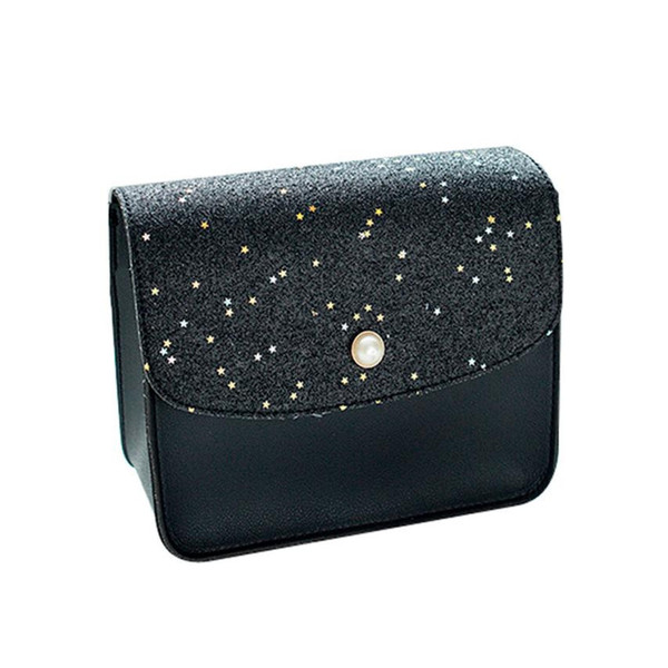 Cheap FashionWomen Sequins Pearl Cover Crossbody Bag Simple Leisure Messenger Bag High Quality Leather Design #YL5
