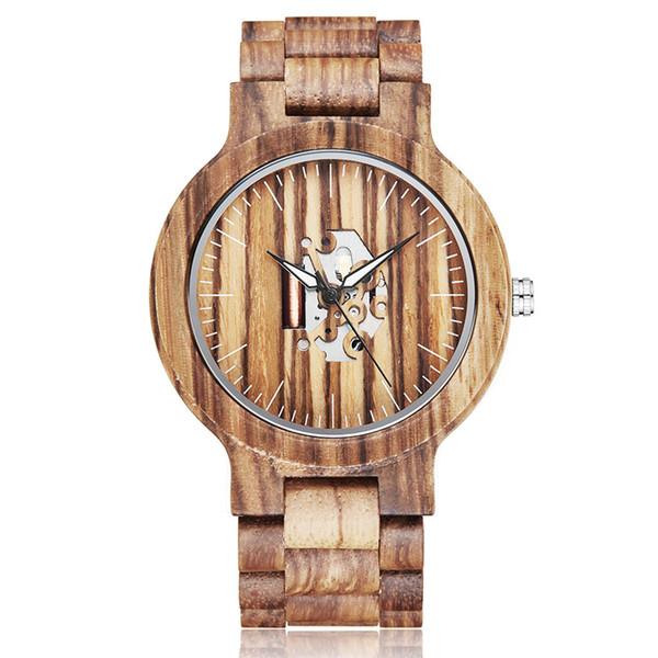 Уникальная Пара Деревянные Часы Мужчины Женщины Деревянный Ремешок Светящиеся Руки Наручные Часы Творческий Коричневый Полный Орех Вуд Смотреть Мужские Часы Любителей