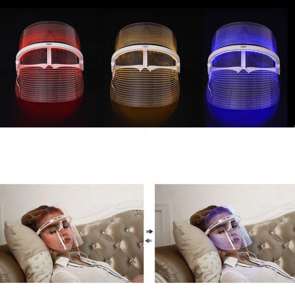 LED Terapia Maschera Facciale Strumento di bellezza SPA viso Trattamento dell'acne Rughe Remover Ringiovanimento della pelle Strumento Idratante LLA480
