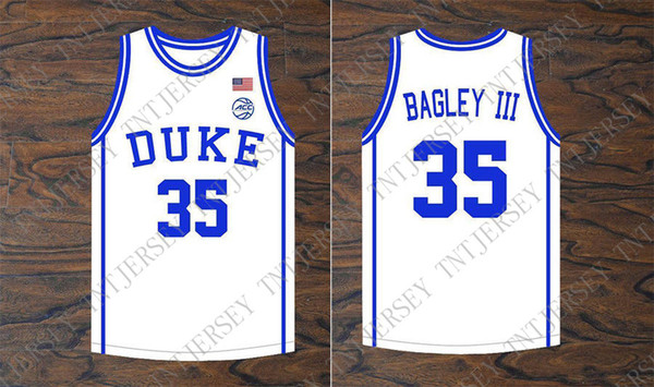 Cheap custom Marvin Bagley III #35 Duke Blue Devils Basketball White Jersey Stitched Stitch customize any number name MEN WOMEN YOUTH XS-5XL