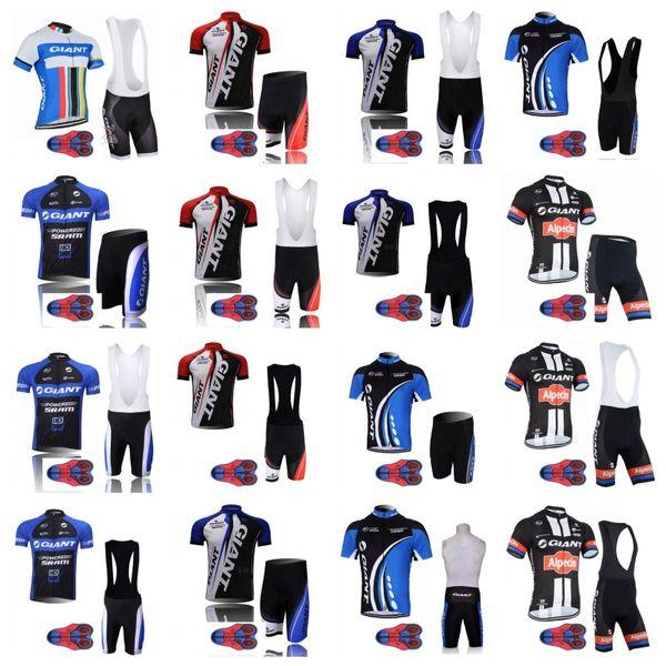 Giant 2018 Ciclismo Roupas triathlon Tour de France equipe de ciclismo Jersey MTB bicicleta bib 9D gel pad shorts Set Ropa Ciclismo Maillot