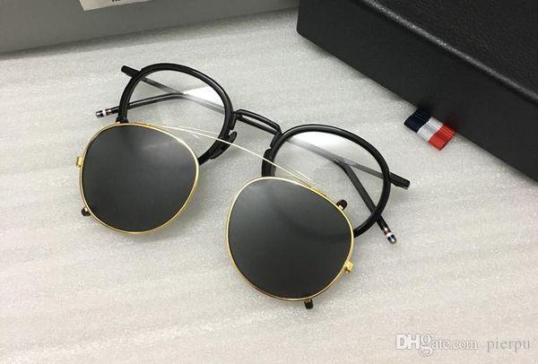 black frame+gold clip