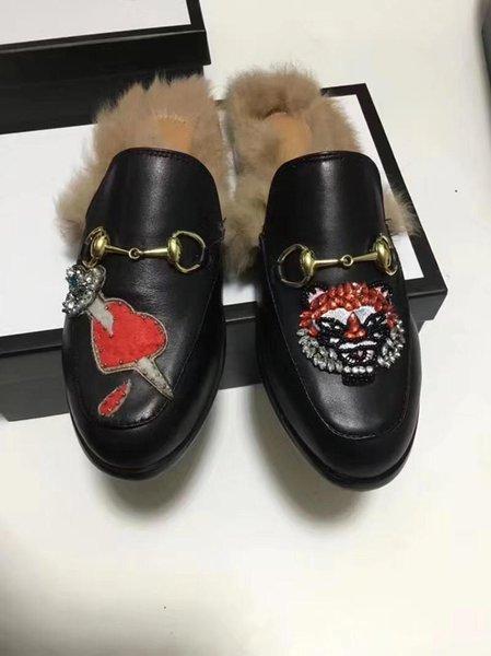 Black leather /mandarin duck