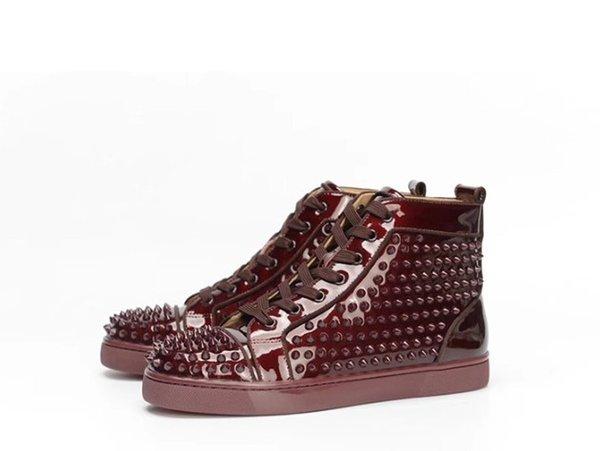 Sapatilhas Designer Red Bottoms Spikes Apartamentos Sapatos Para Mulheres Dos Homens Sapatilhas De Couro Sapatos Casuais