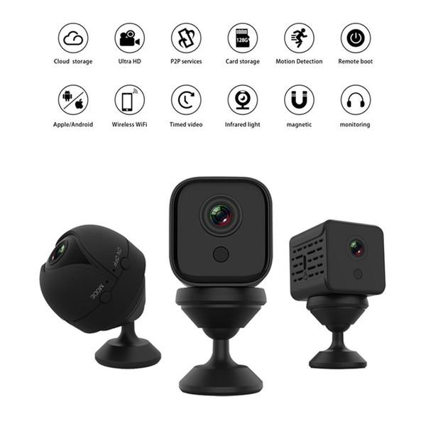 A10 A11 A12 1080P HD Video Detección de Wifi de la cámara IP de visión nocturna Seguridad Micro hogar inteligente cámara CCTV Cam movimiento DVR Mini videocámara de PK SQ23