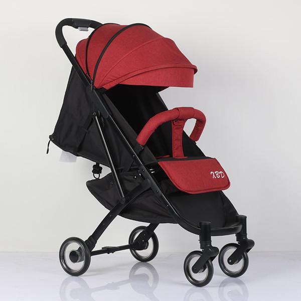 Abdo Carrinho De Bebê Avião Leve Portátil Viajando Pram Luz De Luxo Pode Sentar E Mentir Carrinho De Bebê Guarda-chuva Dobrável
