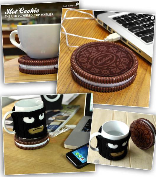 Kreative Kekse Tassenwärmer Riesen Donut USB Tassenwärmer Hot Cookie Mug Coaster Büro Tee USB-angetriebene Heizung Keks Tablett Gadgets
