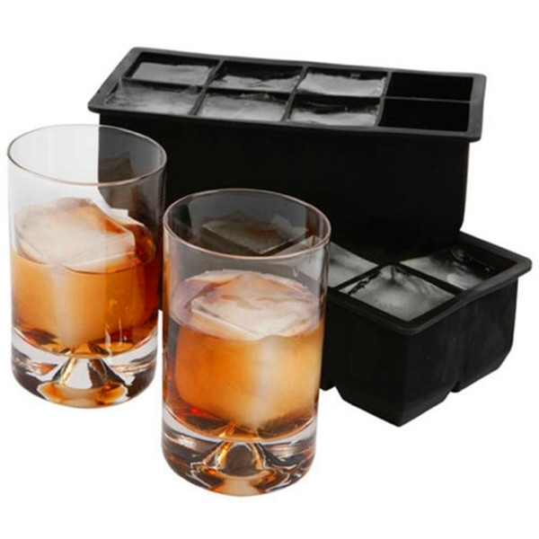 8 Big Jumbo Large Silicone Square Tray Mold Mould Ice Cube Maker Kitchen Accessories C19041301