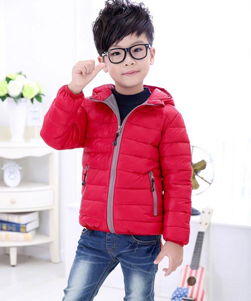2019 Çocuk giyim erkek kız kış sıcak kapüşonlu ceket çocuk pamuk- yastıklı tasarımcı aşağı ceket çocuk ceketleri çocuklar mont 3-12 yıl