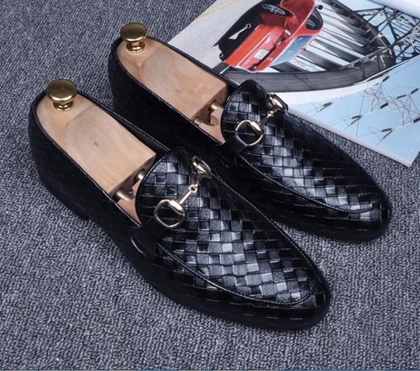 Высокое Качество, Модные Мужчины Высокий Верх Британский Стиль Rrivet Причинно Роскошная Обувь Мужская Красный Золотой Черный Нижняя Обувь Обувь Мужская 37-44