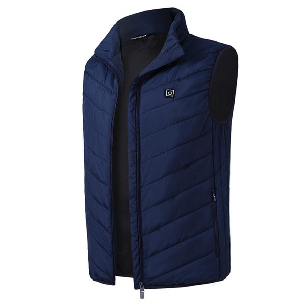 Warm Outdoor USB Charge Winter Waistcoat Vest Constant Temperature Thermal Clothing Carbon Fiber Electric Heating Coat Men