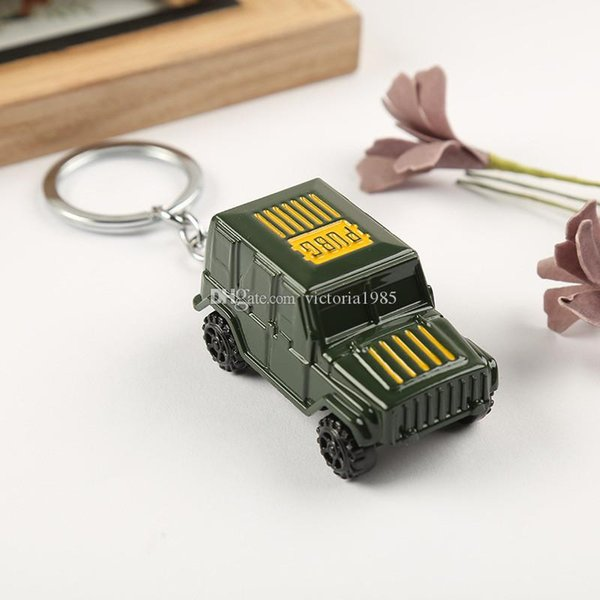 Game Keychain Keyring 3D Alloy Pickup Truck Model Car Key Ring Pendant Jewelry Gift For Audi BMW Jeep Toyota Honda Ford KIA gift