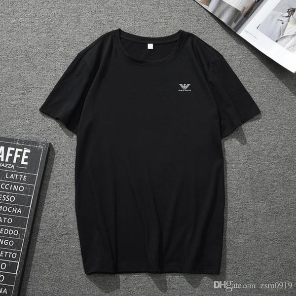 Erkekler için T Shirt Marka logosu Gömlek Yaz Casual Çift Erkek Giyim Moda Gelgit Mektup Baskı Kısa Kollu Tops