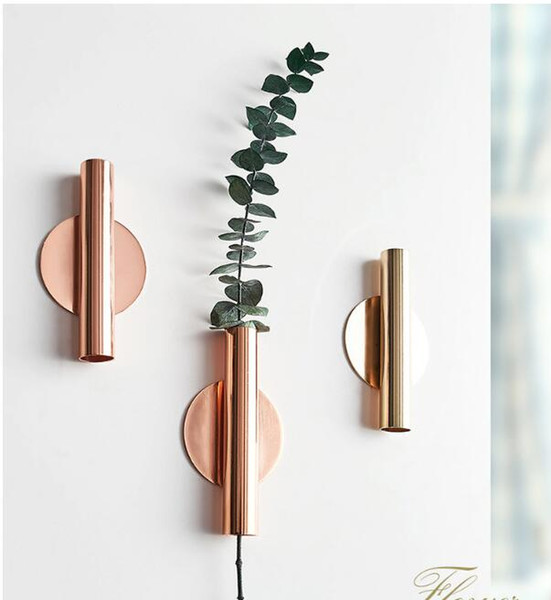 Nordic Style Simple Modern Iron Flower Arrangement Wall Hanging Cold Drinking Shop Gong Cha Shop Wall Individual Creative Flower Arrangement