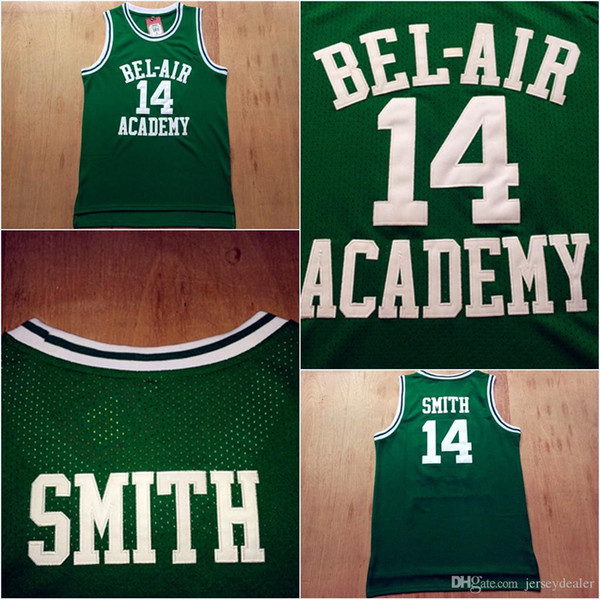 Will Smith Basketball Jersey,14 WILL SMITH Fresh Prince Movie Basketball Jersey 100% Stitched Green S-3XL Fast Shipping