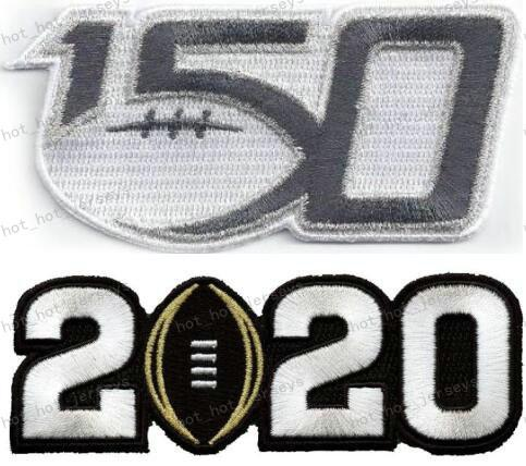 150TH & 2020 white number patches