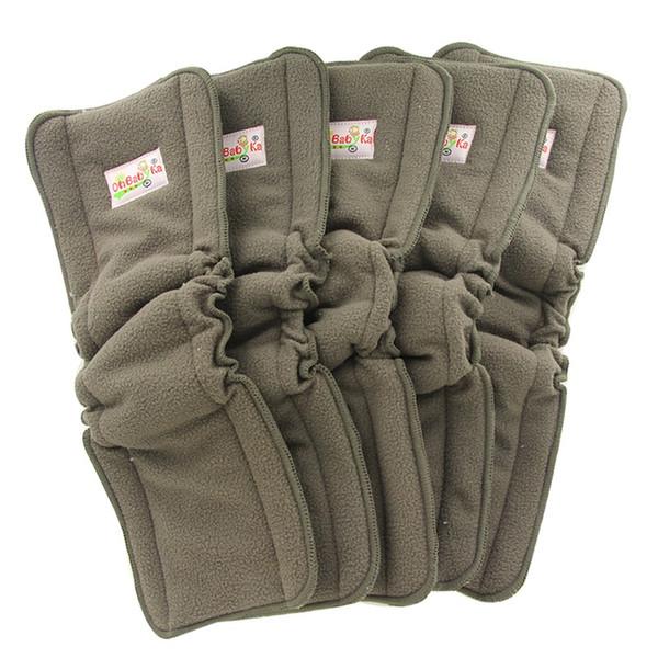Ohbabyka Fraldas De Pano Do Bebê Inserir Fraldas Reutilizáveis 5 Camadas De Carvão De Bambu Inserções para Recém-nascidos FRETE GRÁTIS
