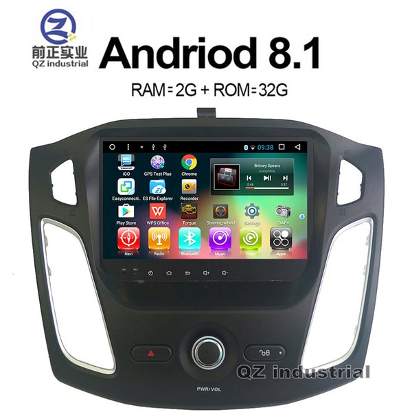 QZ industrial HD 9inch Octa core Android 8.1 T3 for Ford Focus 2012-2016 car dvd player with GPS 3G 4G WIFI Bluetooth Stereo Radio RDS Map