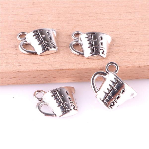 23351 100PCS fascino d'argento del metallo della lega di misura dell'orecchino della collana del braccialetto di fascino dei monili di Coppa accessori del pendente