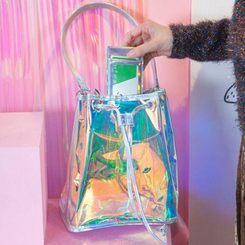 Free Shipping Sweet Teenage Girl Crossbody Shoulder Bag Hologram Shine Leather Laser Bag Holographic bag