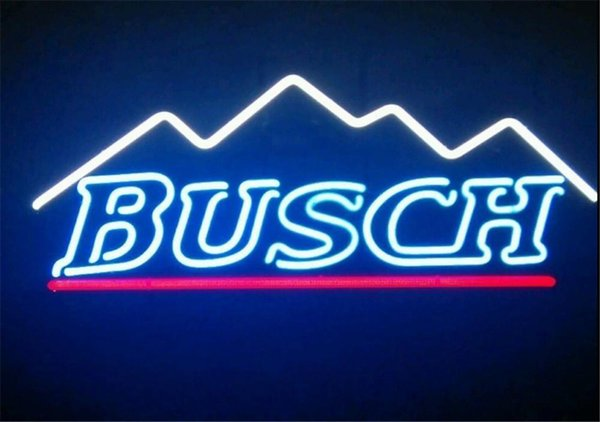 New Star Neon Sign Factory 17X14 pollici Real Glass Glass Sign Light per Beer Bar Pub Garage Room Busch Mountain.