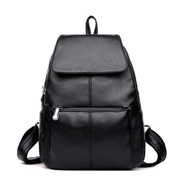 PU Washed Leather Female Backpack Casual Shoulder Bag Ladies Satchel School Bag Travel Daypacks for Girls Women Backpack Purse