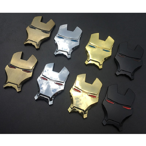 Voiture stying4x6cm 3D Chrome Métal Iron Man Emblème De Voiture Autocollants Décoration The Avengers Voiture Styling Stickers Extérieur Accessoires