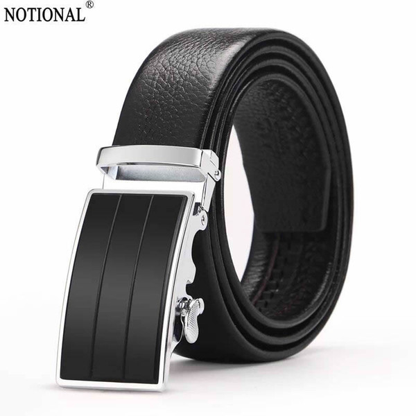 men belt genuine leather belt belts for men Mens Ratchet Slide Belts Leather Automatic Buckle male vintage jeans chain NX1156C