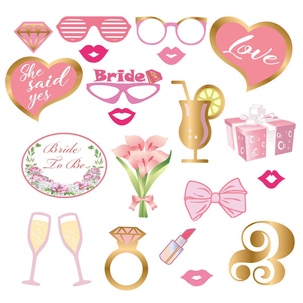 Wedding Photo Booth Props Bride To Be Photo Booth Party Decorations Bridal Shower Bachelorette Accessories Birthday