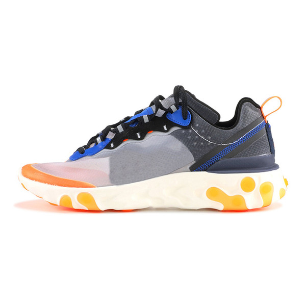2019 Fashion off Brand men platform woman canvas shoes man athletic trainers white casual sneakers UNDERCOVER React Element 87